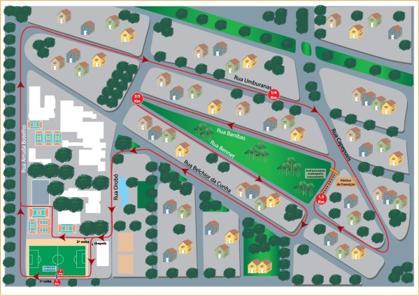 mapa 3a corrida Santa Cruz