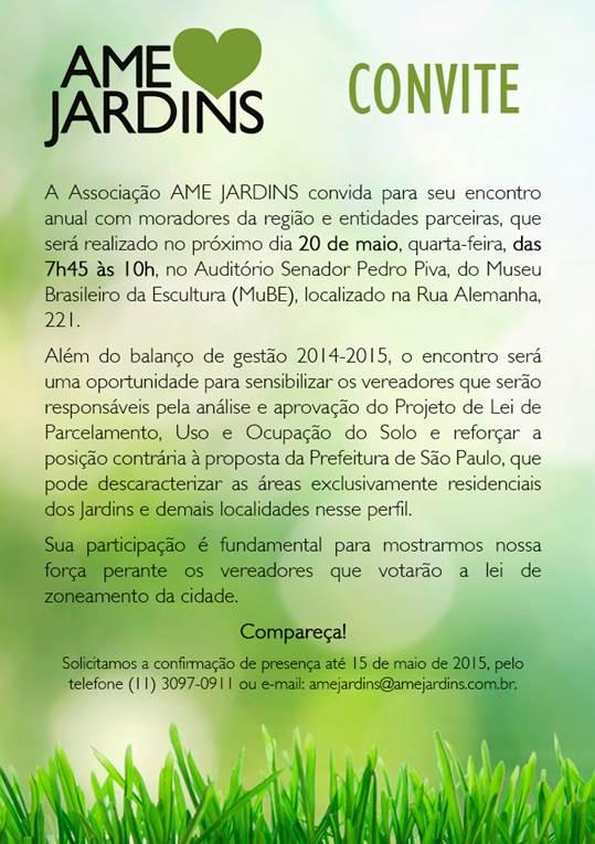Assembleia anual da AME JARDINS 2015